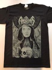 Camiseta do Amorphis com arte de Marcus Zerma