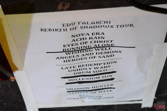 Setlist da Rebirth of Shadows Tour (foto: Clovis Roman)