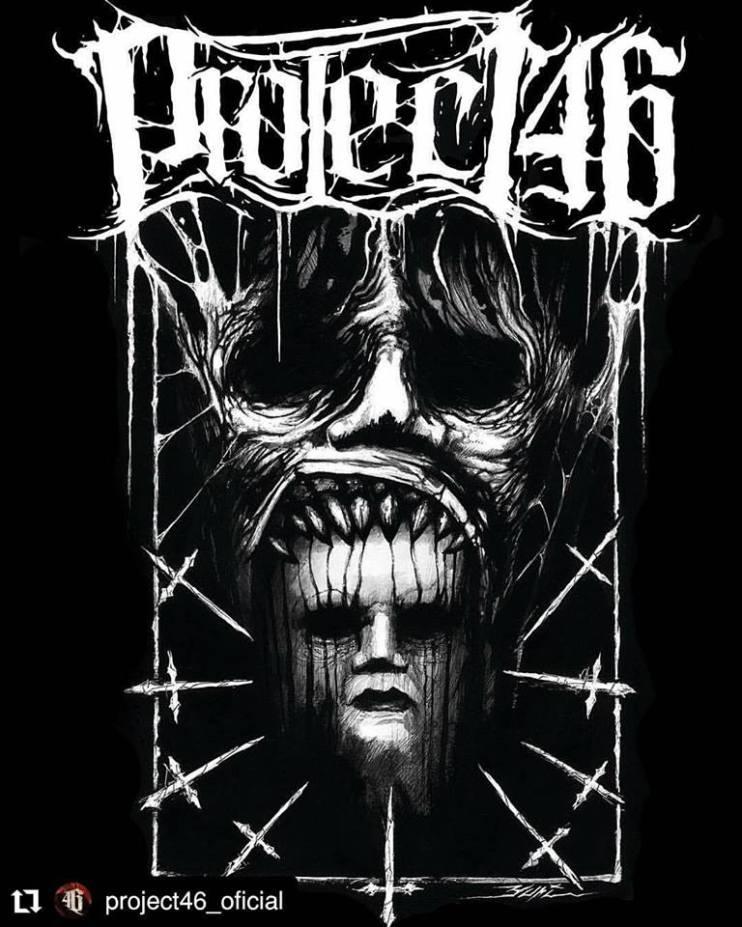 Arte de Yuri Seima para camiseta da banda Project46