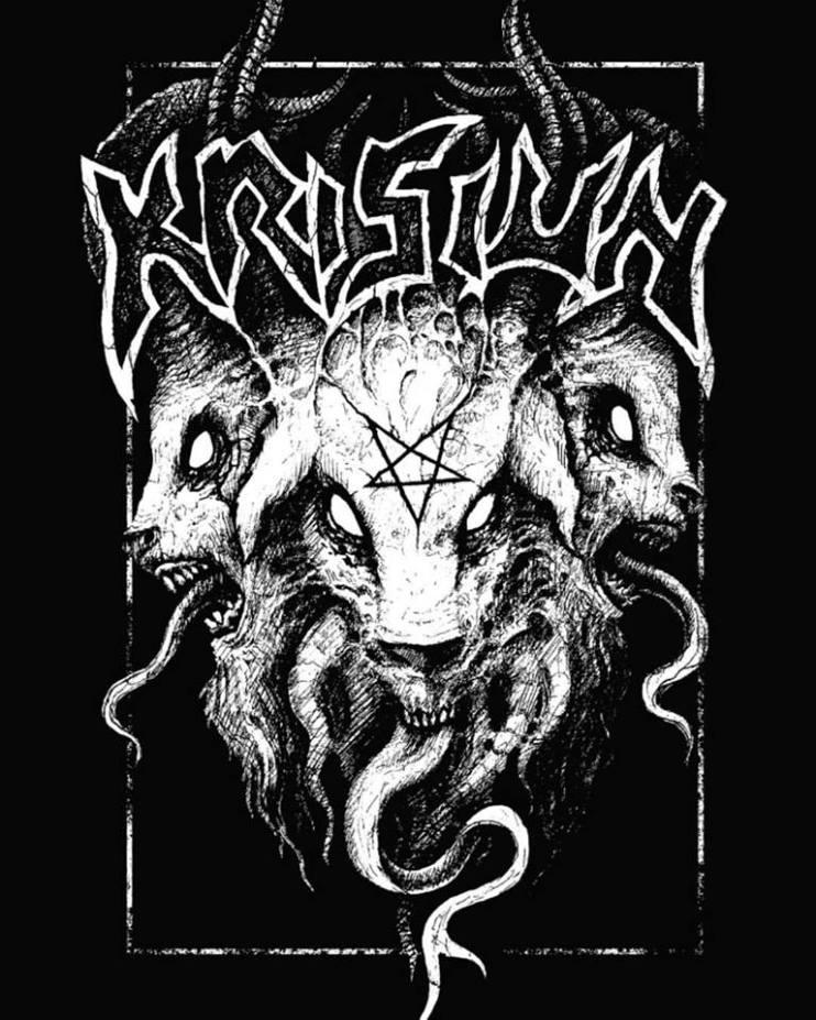 Arte de Yuri Seima para camiseta da banda Krisiun