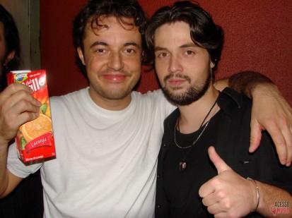 Luppi e Bruno (baixista do Miracle) (foto: Clovis Roman)