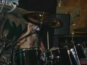 O baterista do Evil War, Ichthys Niger (foto: Clovis Roman)
