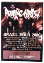 Credencial da Brazil Tour 2006 (acervo pessoal de Giorgos Bokos)